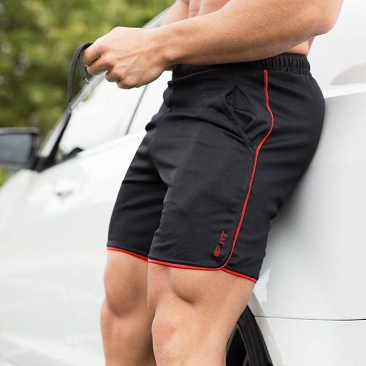 New Men Fitness Bodybuilding Shorts Man Summer Gyms Workout Male Breathable Mesh Quick Dry Sportswear Jogger Beach Short Pants-in Casual Shorts from Men's Clothing