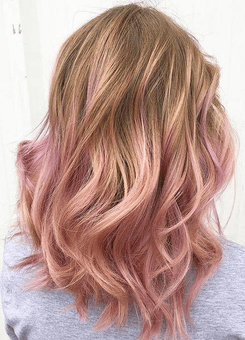 50 unwiderstehliche Rose Gold Haarfarbe sieht aus wie Sie diesen Trend abziehen können – Beliebt Frisuren