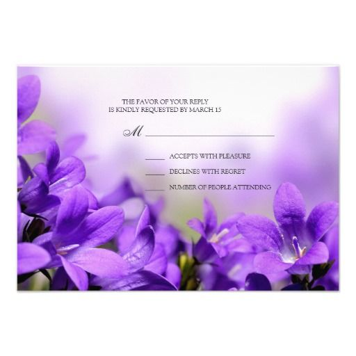 >>>Hello          	Spring Wedding RSVP Reply Card With Purple Flowers           	Spring Wedding RSVP Reply Card With Purple Flowers In our offer link above you will seeThis Deals          	Spring Wedding RSVP Reply Card With Purple Flowers lowest price Fast Shipping and save your money Now!!...Cleck Hot Deals >>> http://www.zazzle.com/spring_wedding_rsvp_reply_card_with_purple_flowers-161956806600022054?rf=238627982471231924&zbar=1&tc=terrest