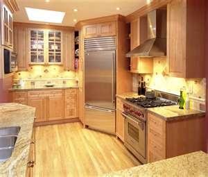 Warm kitchen warm and kitchens on pinterest for Angled corner kitchen cabinets
