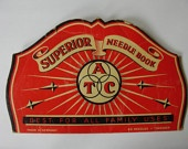 Vintage Superior Needle Book Made in Germany