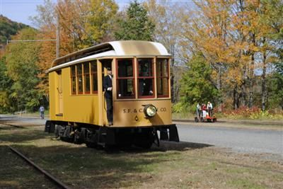 Shelburne Falls Trolley Museum - $3 for a 15 minute trolley ride and other stuff. Opens mid-May.