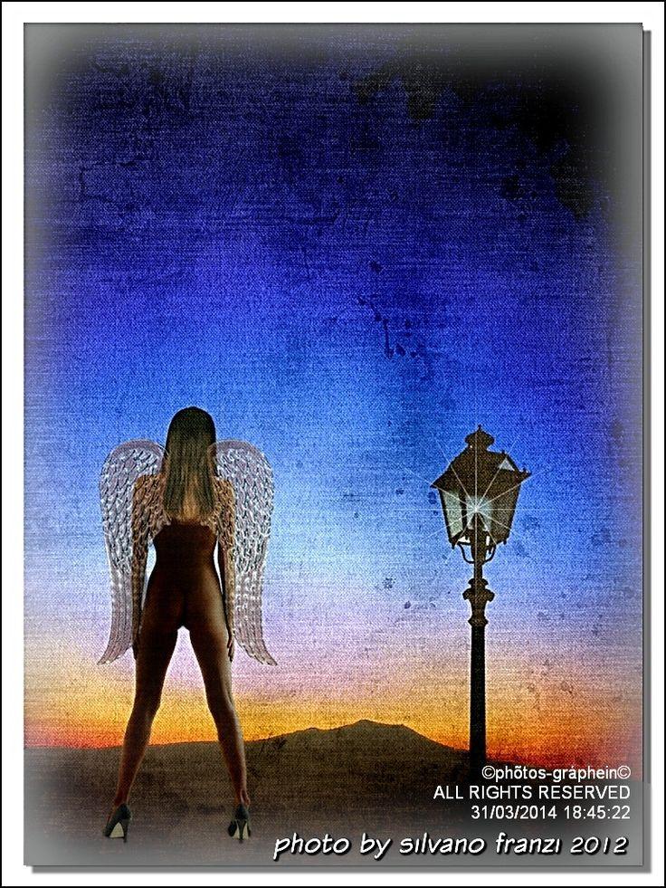 """Angels in Tuscany"" sulla via di Radicofani (Monte Amiata) - ""Angels in Tuscany"" sulla via di Radicofani (Monte Amiata) (Digital texture courtesy of Susan Weller    150mm"