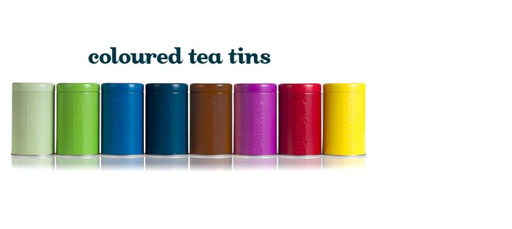 Coloured Tea Tins by DavidsTea . Really need to get more of these for all my favourites.
