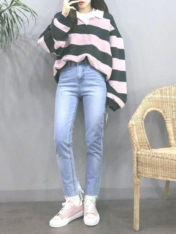 New Korean Women's fashion clothing Tips 7335501332 #summerkoreanfashion #frisyrer #Frisuren #nouvellecoiffure