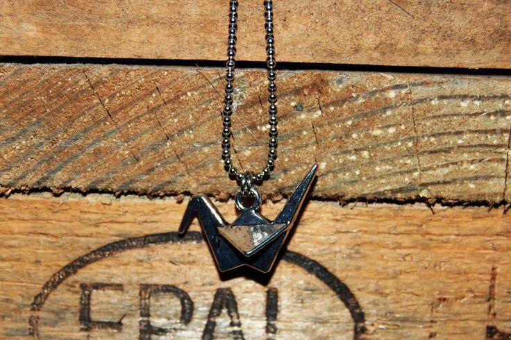 3d origami vogel ketting ZILVER door EarlybirdiesNL op Etsy