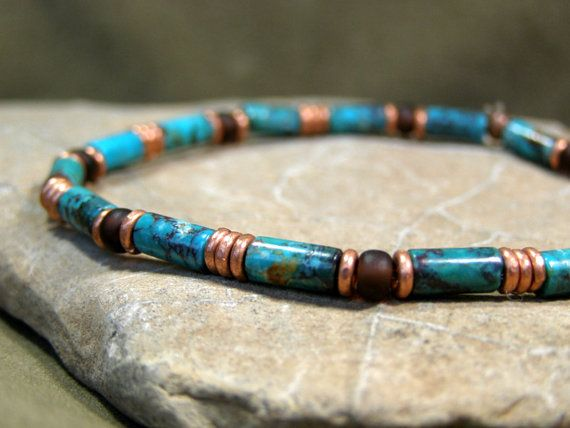 Turquoise Bracelet  Mens Bracelet  Mens Jewelry by StoneWearDesigns