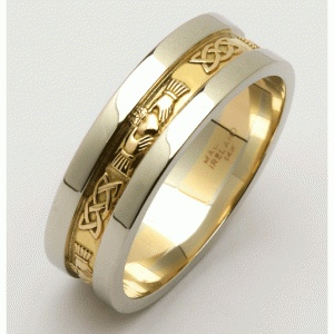 two colored golden ring