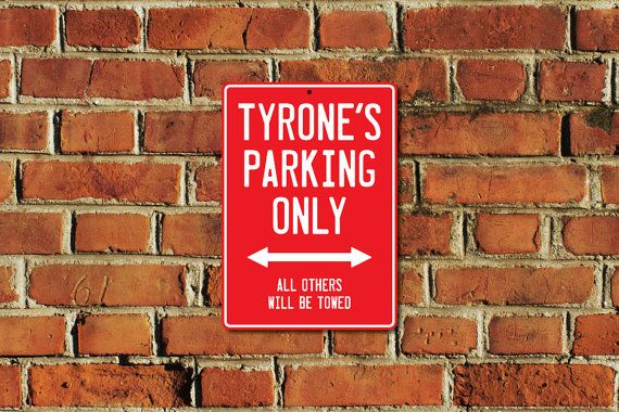 This listing is for one brand new custom made PARKING ONLY sign with the name of your choice, created by Doozi.