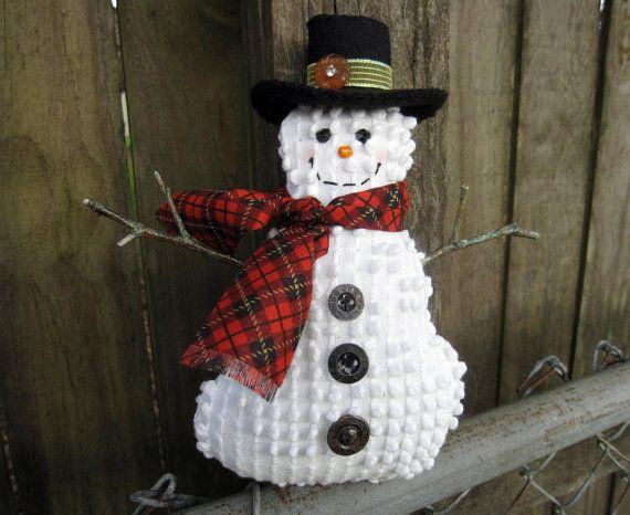 Mens Cotton Pocket Square - Christmas Snowmen Lights by VIDA VIDA Xm4dYgsk