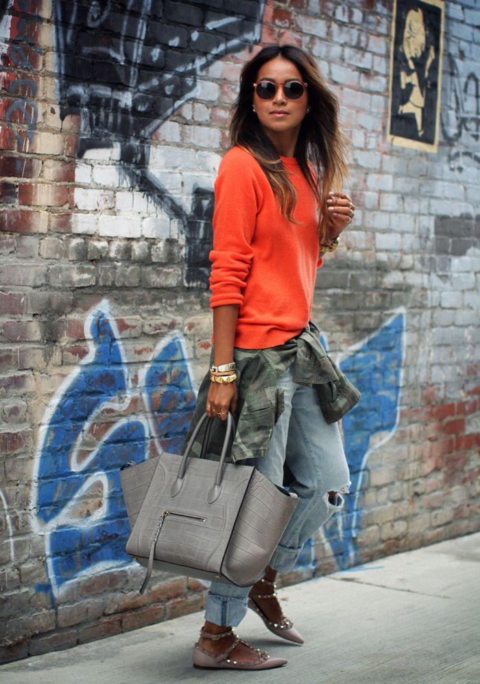 Love the orange jumper!