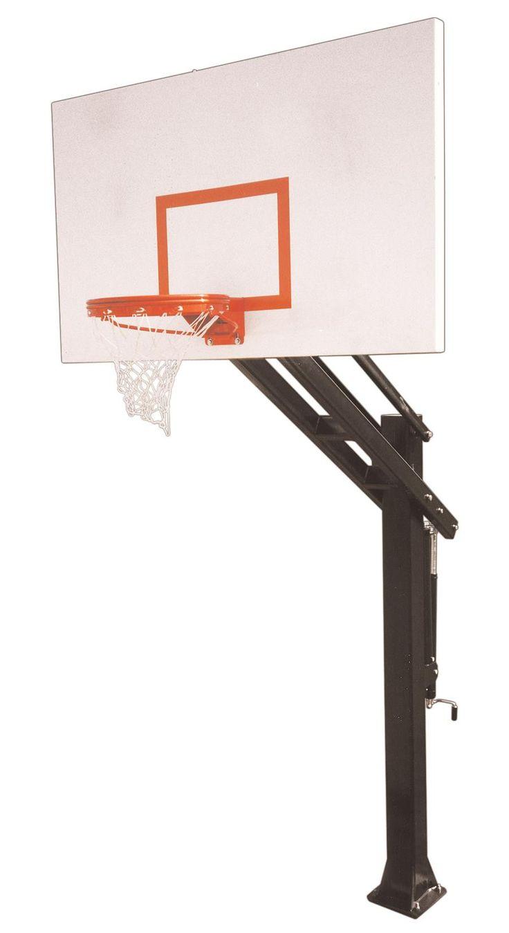 first team titan excel in ground outdoor adjustable basketball hoop 72 inch steel - In Ground Basketball Hoop