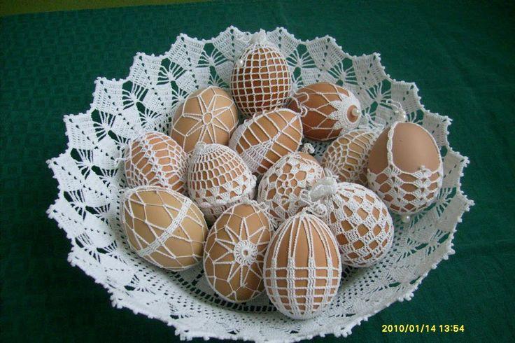 Crochet egg - velikonoční vajíčka háčkovaná