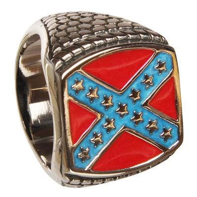 129,00 Super cool ring med det Amerikanske Sydstatsflag. Ringen fåes i flere størrelser.