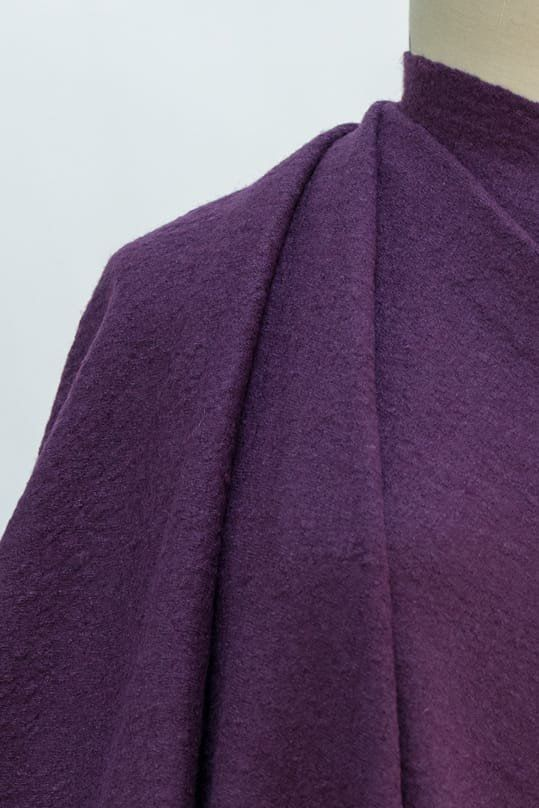 Tyrian Purple Felted Boiled Wool Knit