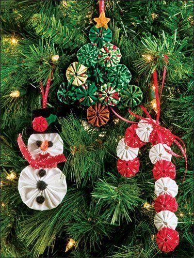 Arbolitos navideños de tela fáciles de hacer