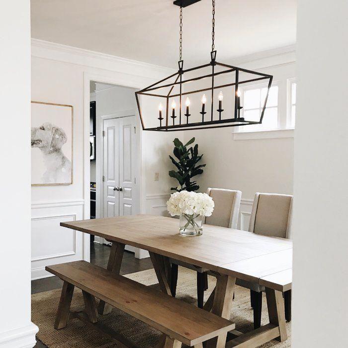 Carmen 6 Light Kitchen Island Linear Pendant In 2020 Modern
