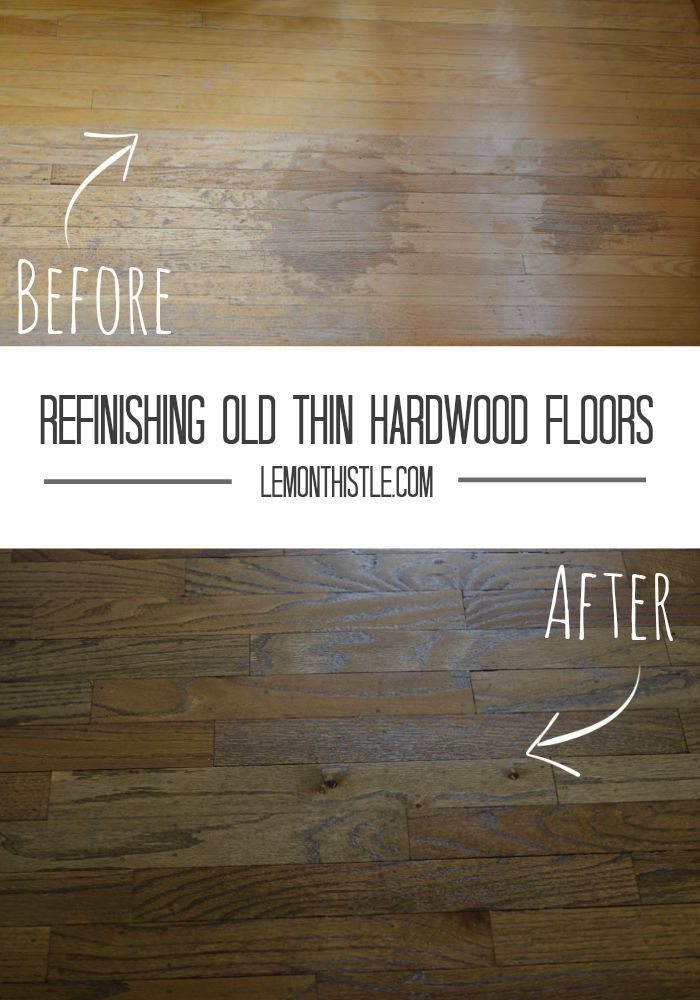 Refinishing Old THIN Hardwood Floors  Remodelaholic