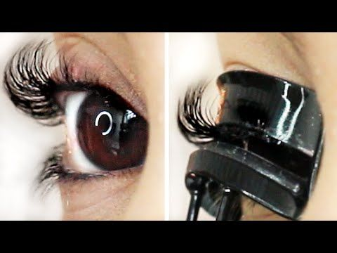 How to Curl Straight Lashes to Stay All Day! ♡ - YouTube