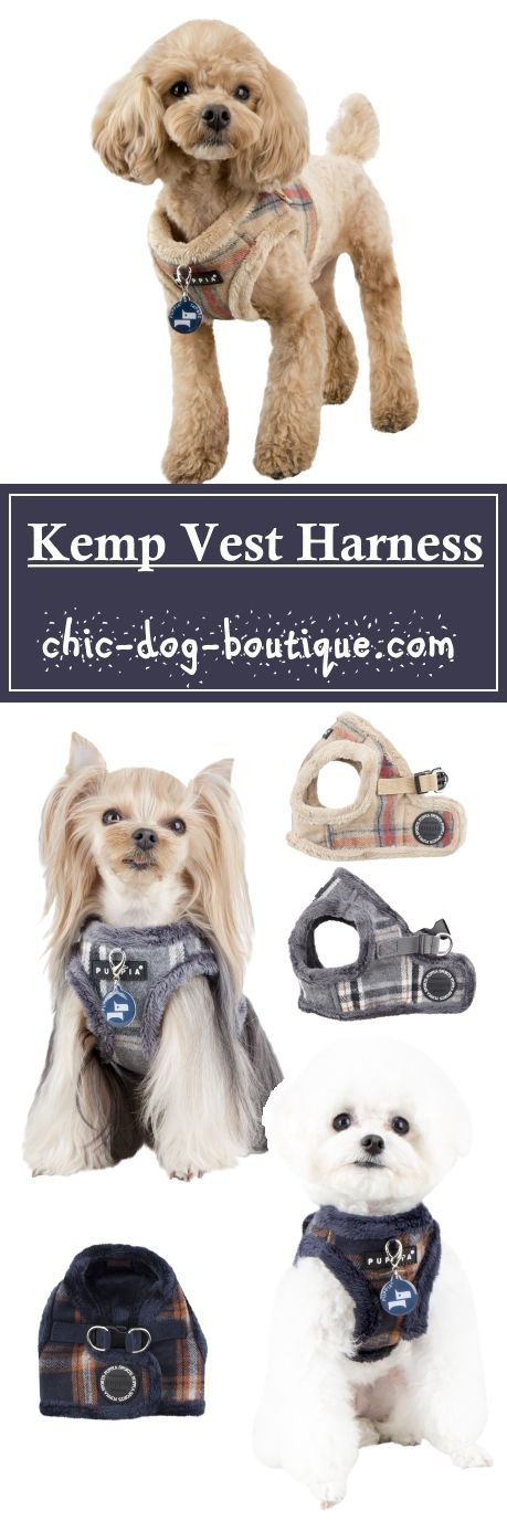 The Puppia Kemp Vest Harness is a fleece lined dog vest available in beige, melange grey or navy colors with a handsome plaid pattern. Made from a polyester/wool blend, this harness is soft to the touch and sure to be loved by all dogs who wear it on their daily walks, especially during the cooler months of the year. The Puppia Kemp Harness B is a step in style vest that secures at the dog's back with both a quick-release buckle and Velcro closure.