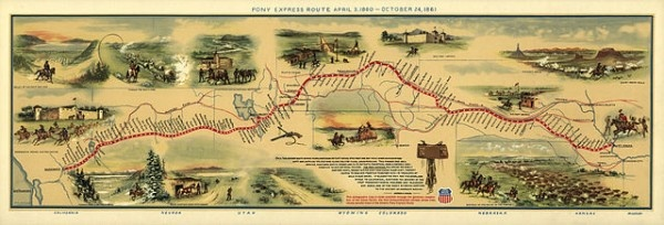 The Pony Express project http://bit.ly/KRwEdN #genealogy: History, Williams Henry, Henry Jackson, October 24, Illustrations Maps, Ponies Expressions, Expressions Maps, Expressions Route, Wild West