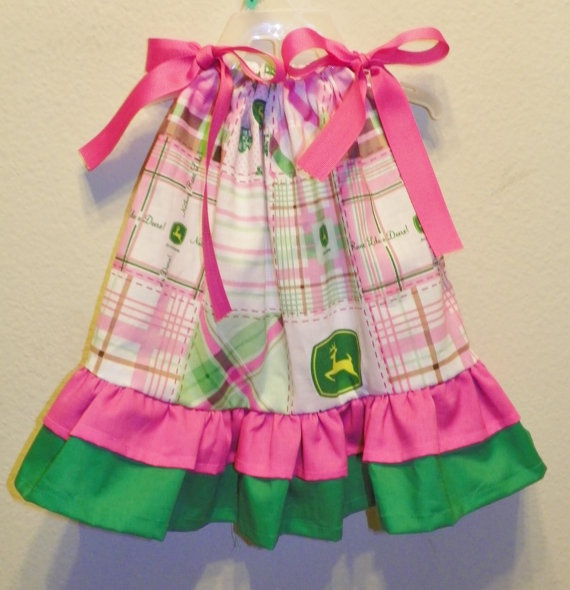 JOHN DEERE pillowcase dress patchwork double ruffle 0 3 6 9 12 18 months baby infant & 47 best Baby Girl Dresses images on Pinterest | Baby girl dresses ... pillowsntoast.com