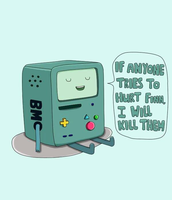 Beemo - Adventure Time  You know a true friend when you see one <3
