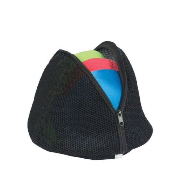 Black Micro Mesh Bra Bag Bag is used for washing bras, lingerie, camisoles or other delicate clothing. Add items to bag, zip and place bag in washing machine. Holds three large bras easily. Black mesh fabric. Zipper closure. Perfect for traveling or organizing lingerie drawer. White mesh bag also available in closet. Please ask questions. Accessories