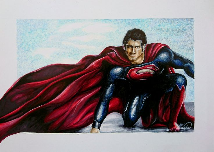 Man of Steel. Copic markers on Marker Paper.  21cm x 15cm #art #drawing #copic #superman