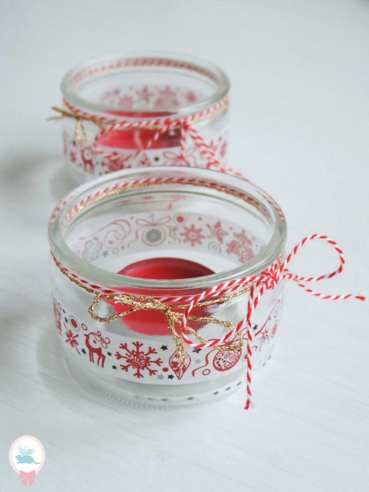 Voici des petits photophores de Noël, parfait pour décorer une table, et surtout faciles et rapides à réaliser :         Voici ce dont vou...