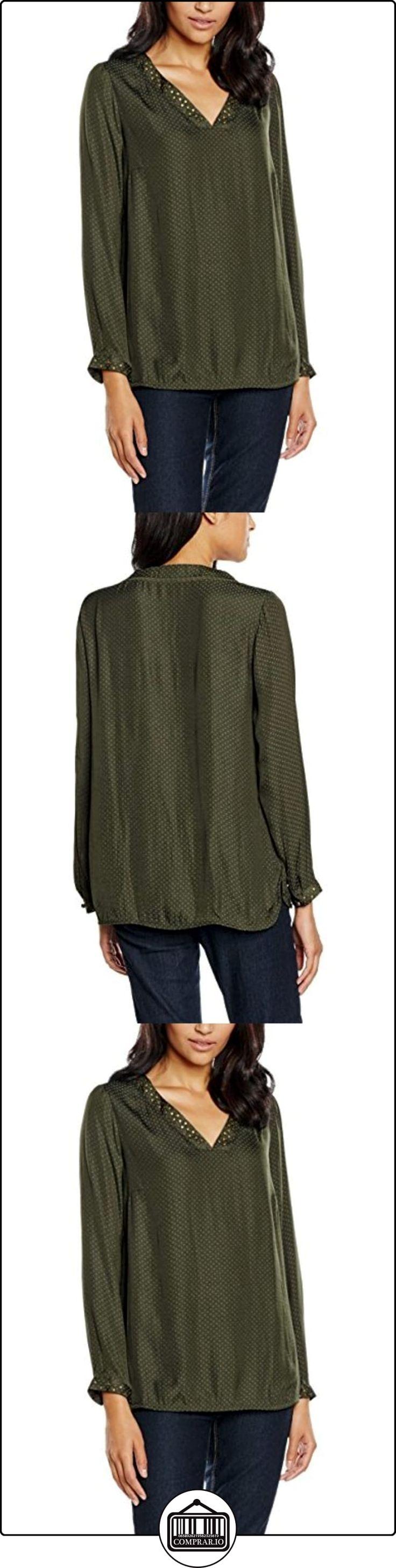 Cortefiel 3.T.M.Bls M/L Corbater Cuello Pico, Blusa para Mujer, Greens, XL  ✿ Blusas y camisas ✿