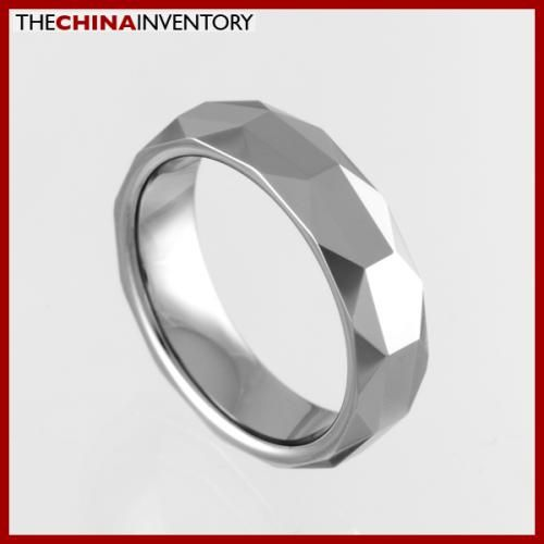 5.5MM SIZE 8 FACETED TUNGSTEN CARBIDE BAND RING R0917