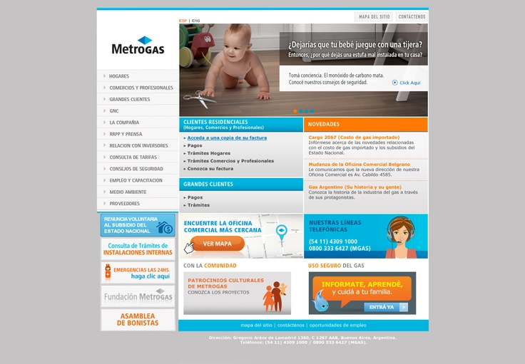 MetroGAS. Refresh sitio web.