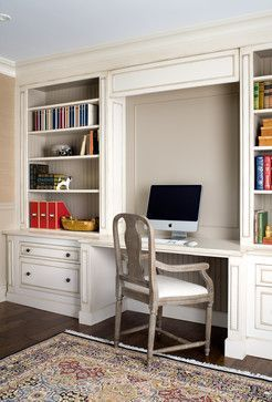 Built In Bookshelves With Desk Design Ideas, Pictures, Remodel, And Decor    Page