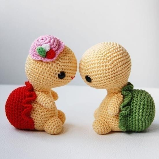 pareja enamorada de tortugas