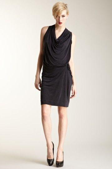 L.A.M.B.   Drape Sleeveless Dress  $58.00