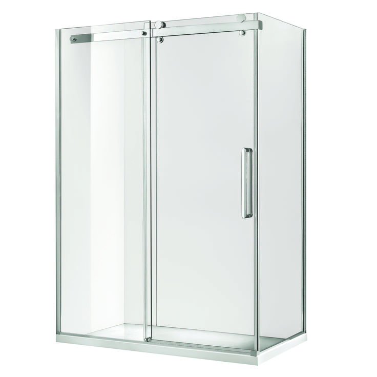 Shower Screen Frameless Euro 1200x900x1900mm Sliding