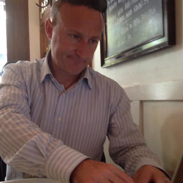 Antoine working at European cafe