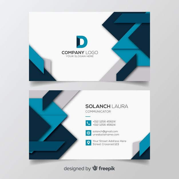 Download Geometric Business Card Template For Free Business Card Design Simple Free Business Card Design Colorful Business Card