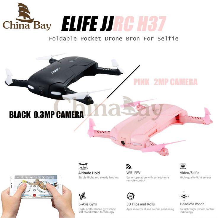 Terbaru jjrc h37 elfie lipat mini selfie ketinggian terus fpv quadcopter drone dengan kamera wifi telepon kontrol rc helicopter toys