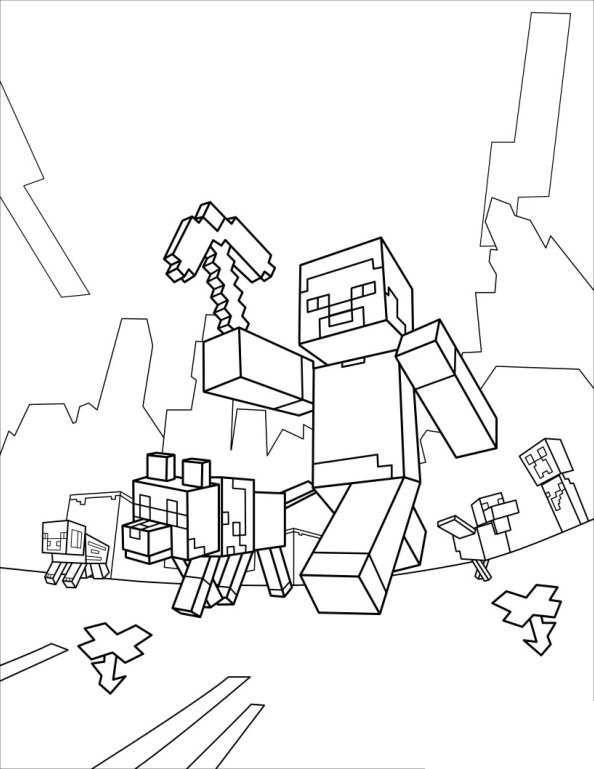 Ausmalbilder Minecraft Steve 1075 Malvorlage Minecraft ...