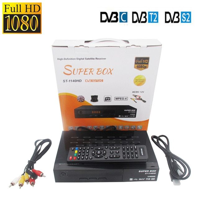Dvb T2 Dvb S2 Dvb C Digital Satellite Receiver Super Box Support Cccam Newcamd Mgcamd Powervu Key Tv Turner Vs Freesat V8 Satellite Receiver Satellites Dvb T2