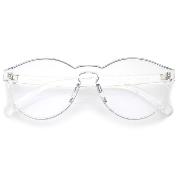 Mono Block Rimless PC Pantone Lens Sunglasses A555