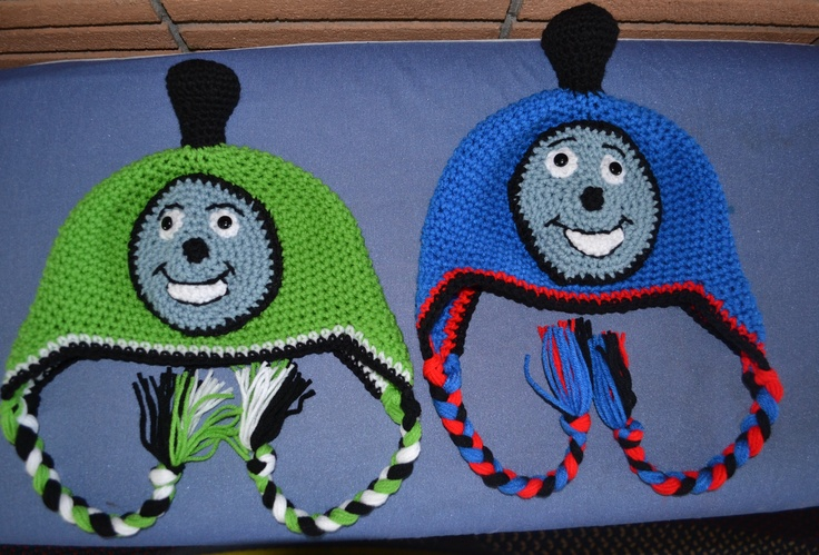 Thomas the Tank Engine and Percy  $25 eachCrochet Cap, Percy 25, Thomas Engineering, Thomas The Tanks, Engineering Crochet, Tanks Engineering, Tanks Crochet, Crochet Items