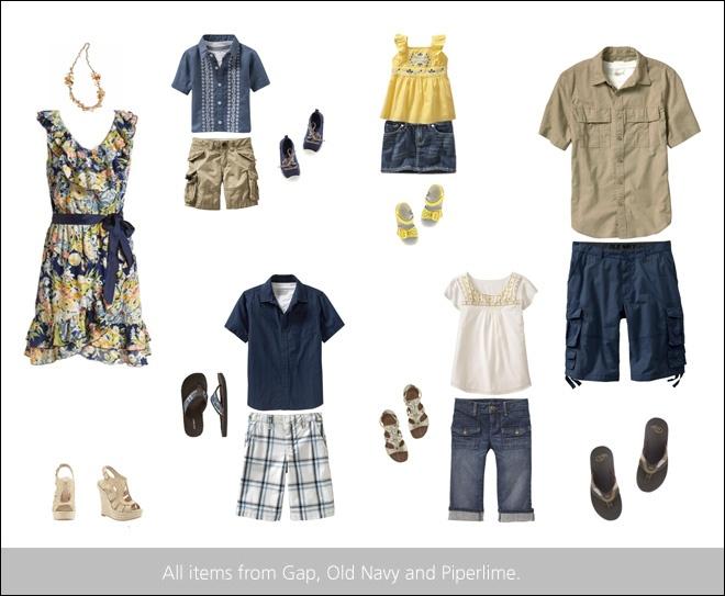 Family photo session clothing inspiration