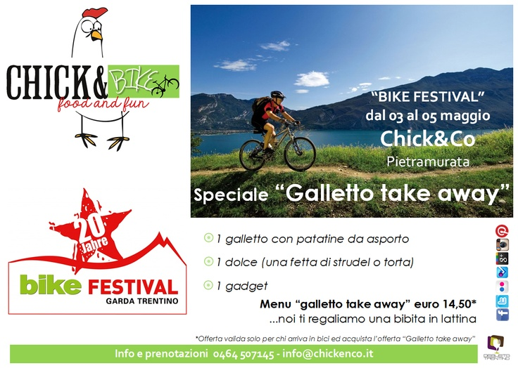 #bikefestival a #rivadelgarda in #trentino. #galletto #take#away per gli amici #bikers sul #lago di #garda