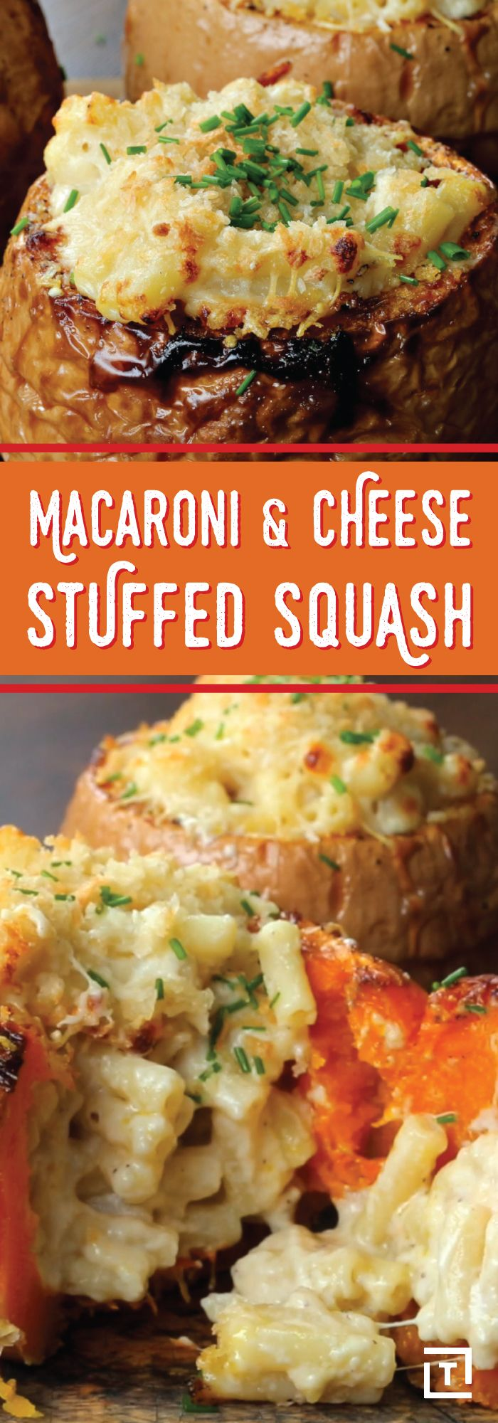 Wouldn't mac 'n' cheese be better if you could also eat the bowl? Twisted baked up this gooey white cheddar mac 'n' cheese and then stuffed it into a butternut squash bowl, making it the perfect recipe for Fall get-togethers, or even just for dinner tonight.