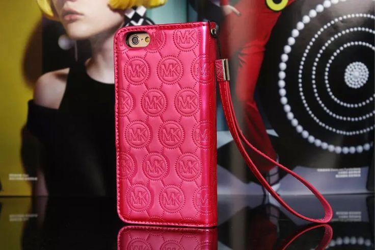 Michael Kors iPhone 7 Case Wallet Vernis Cover Plum-01