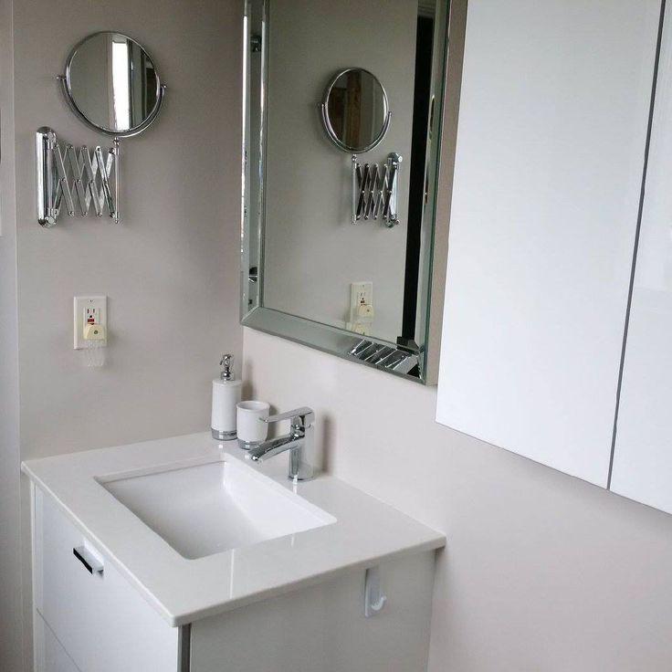 Merci à ce client  pour l'envoi de ses photos de sa nouvelle salle de bain  #cuisinesaction   Matériel : PVC blanc