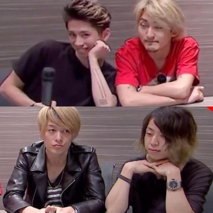 #oneokrock TakaとTomoyaかわいすぎ❤️ Toruは無だけど相変わらず美しい✨ Ryotaごめん。 タイミングね。 タイミングがちょっとね。